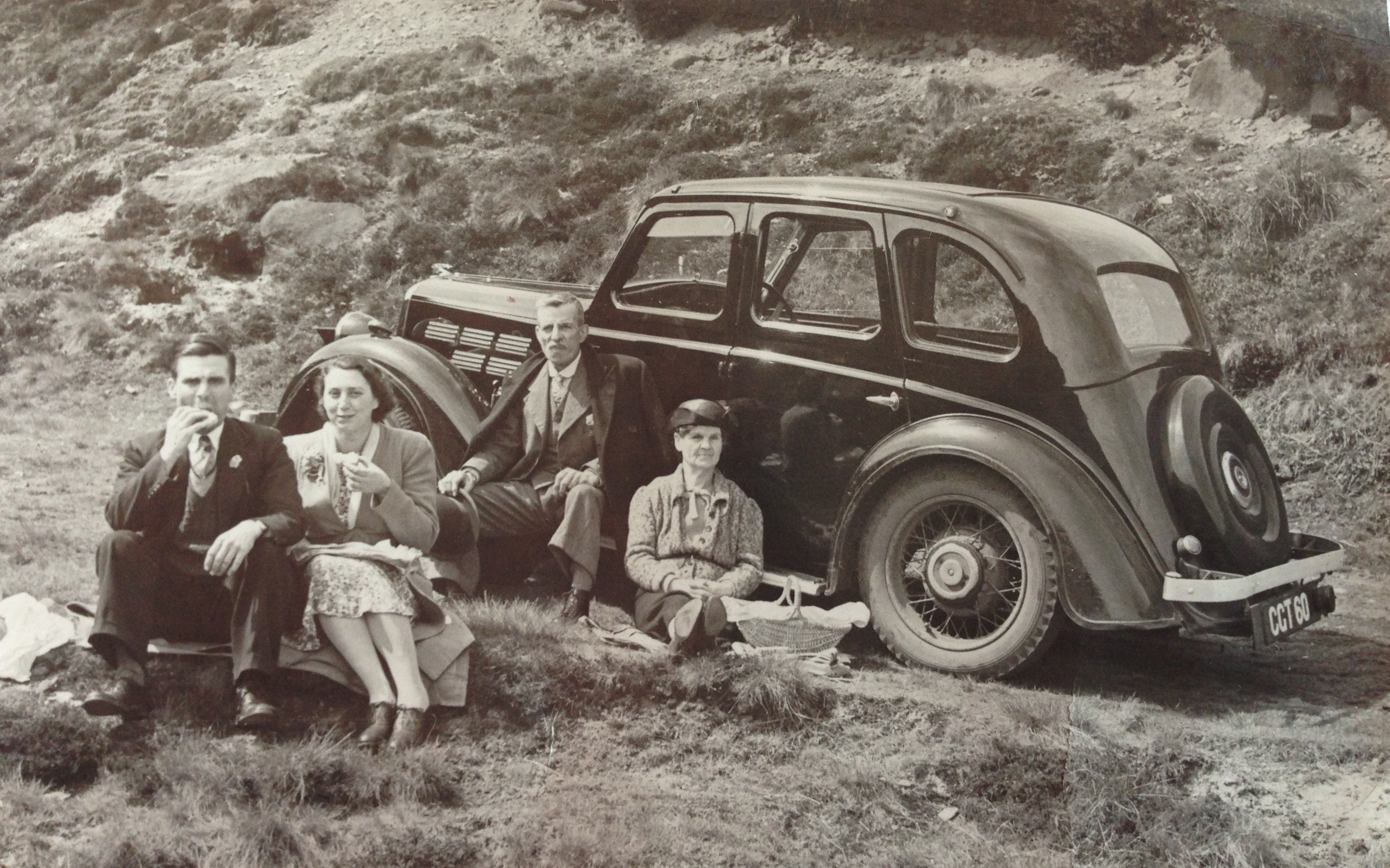Family picnic with the car